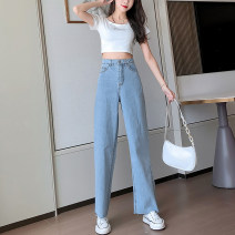 Women's large Summer 2021 wathet L [95-110kg] XL [110-130kg] 2XL [130-150kg] 3XL [150-170kg] 4XL [170-200kg] trousers singleton  commute easy moderate Solid color Korean version other MKD-LT8021 Mikedo 18-24 years old 81% (inclusive) - 90% (inclusive) Other 100% Pure e-commerce (online only) trousers
