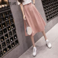 skirt Summer 2020 S M L XL Mid length dress commute High waist Umbrella skirt Solid color Type A 25-29 years old More than 95% Cetinra / Chitina other Button panel Korean version Other 100% Pure e-commerce (online only)