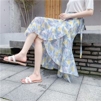 skirt Summer 2020 Average size Mid length dress Versatile High waist Irregular Abstract pattern Type A 18-24 years old zpPE59 More than 95% Chiffon Zhi Xuanlian other Bow, ruffle, lace up, asymmetric bandage, wave print Other 100% Pure e-commerce (online only)