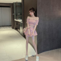 Fashion suit Summer 2020 S M Pink top + pink skirt green top + green skirt Mai Xiayuan 0716A3113 Polyester 85% other 15% Pure e-commerce (online only)