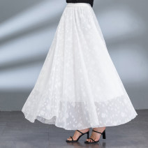 skirt Summer 2020 Make to order size for s ml XL XXL Black cut white cut red cut longuette Versatile High waist Fairy Dress Decor D001-13 More than 95% Chiffon Skirt four seasons polyester fiber Polyester 100% Pure e-commerce (online only)