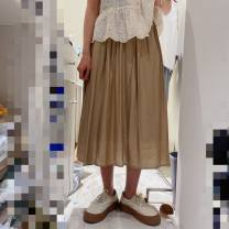 skirt Spring 2021 S, M Return and exchange of khaki shall bear the round trip freight