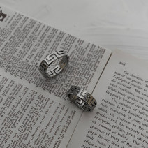 Ring / ring Titanium steel RMB 25-29.99 Other / other brand new goods in stock Original design Fresh out of the oven Not inlaid