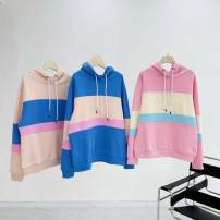 Sweater / sweater Spring 2021 Blue, light pink orange, deep pink M,L,XL Long sleeves routine Socket singleton  routine Hood easy street routine letter 25-29 years old 81% (inclusive) - 90% (inclusive) cotton cotton Sports & Leisure