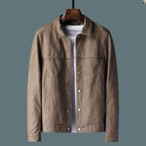 leather clothing Others other Brown, coffee M (90-120 kg), l (120-135 kg), XL (135-150 kg), 2XL (150-165 kg), 3XL (165-185 kg), 4XL (185-200 kg) routine Imitation leather clothes Lapel Slim fit autumn leisure time youth Cloth hem Three dimensional bag