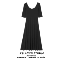 Dress Summer 2021 Black, blue, yellow S,M,L longuette singleton  Short sleeve commute V-neck High waist Solid color zipper A-line skirt routine Others 18-24 years old Korean version Frenulum 81% (inclusive) - 90% (inclusive) other
