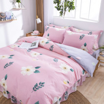 Bedding Set / four piece set / multi piece set cotton Quilting Plants and flowers 128x68 cotton 4 pieces 40 Bed skirt Qualified products Princess style 100% cotton twill Reactive Print  Thermal storage