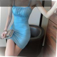 Dress Winter 2020 blue S,M,L Short skirt singleton  Sleeveless other Solid color