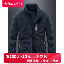 Jacket Other / other Fashion City Black, gray, royal blue, army green, black plush, gray plush, Royal Blue Plush, Army Green Plush M. L, XL, 2XL, 3XL, 4XL for 200-220 kg, 5XL for 220-240 kg thick easy Other leisure winter FL9972 Polyester 100% Long sleeves Wear out stand collar American leisure youth