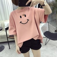 T-shirt White black yellow gray pink 899 * white 899 * BLACK M L XL XXL Summer 2020 Short sleeve Crew neck easy Regular routine commute other 96% and above 18-24 years old Korean version Season collection ZPRE91171 Other 100% Pure e-commerce (online only)