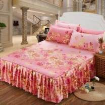 Bed skirt 120x200cm bed skirt, 150x200cm bed skirt, 180x200cm bed skirt, 180x220cm bed skirt cotton Other / other Plants and flowers Qualified products