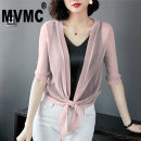 short coat Summer 2020 M L XL 2XL 3XL Grey apricot pink orange white red purple black sky blue dark blue elbow sleeve have cash less than that is registered in the accounts Thin money singleton  Shawl type Versatile routine other Frenulum Solid color 25-29 years old MVMC 96% and above Gauze M35255
