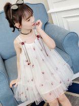 Dress female Bad little treasure Other 100% summer princess Suspender skirt / vest skirt other A-line skirt Broken flower YBX-GH3190 Class A 2, 3, 4, 5, 6, 7, 8, 9, 10, 11, 12, 13, 14 years old White, pink