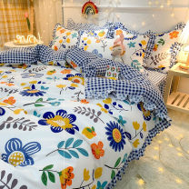 Bed skirt Four sheets [x220 0.2] x230, four bedding sets [x220.1] and four bedclothes [x230.1] polyester fiber Other / other Plants and flowers