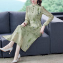 Dress Autumn 2020 Light green S M L XL 2XL longuette 35-39 years old Jin Renyu JRYBH5298 More than 95% other Other 100% Pure e-commerce (online only)