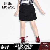 skirt 140/58 150/61 110/53 120/53 110/50 130/56 black Little MO&CO. female Cotton 100% spring and autumn skirt Europe and America Solid color Spring of 2018