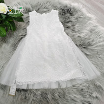 Dress white female Nursery rhyme tree 100cm,110cm,120cm,130cm,140cm,150cm Other 100% summer cotton Pleats 2, 3, 4, 5, 6, 8, 9, 10, 11, 12, 13, 14 Chinese Mainland Jiangsu Province Nantong City