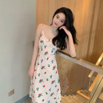 Women's large Summer 2021 Picture color M L XL 2XL Dress singleton  commute Socket Sleeveless Korean version polyester other Sticking core rabbit Medium length Other 100%