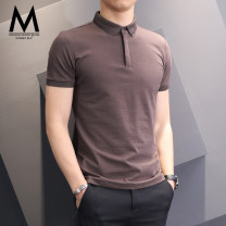 Polo shirt default Fashion City thin S M L XL 2XL 3XL 4XL Self cultivation go to work summer Short sleeve TM005 Business Casual routine youth Cotton 59.1% polyester 40.9% Cotton polyester No iron treatment Button decoration Summer of 2018 Pure e-commerce (online only)