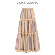 skirt Summer 2021 0 2 3 0P 1 Polychromatic stripe Mid length dress Sweet Natural waist 1634SMAEMUST zimmermann Mori