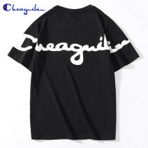 T-shirt Youth fashion routine XXL 4XL M L XL 3XL Champion VIP Short sleeve Crew neck easy Other leisure summer Cotton 100% teenagers routine tide Cotton wool Summer 2021 Alphanumeric printing cotton Brand logo No iron treatment 90% (inclusive) - 95% (inclusive)