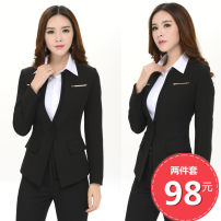 Professional dress suit 5XL,4XL,XXXL,XXL,XL,L,M,S Winter of 2018 Long sleeves 1061F1 Shirts, coats, other styles Suit skirt 25-35 years old Other / other 91% (inclusive) - 95% (inclusive)