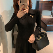 Women's large Winter 2020 Black apricot S M L XL singleton  commute Self cultivation Long sleeves Solid color Retro Polo collar routine C10N2726 Yugou 25-29 years old 51% (inclusive) - 70% (inclusive) longuette Other 100% Pure e-commerce (online only)