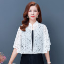 Lace / Chiffon Summer 2021 Average size Sleeveless commute Cardigan singleton  easy have cash less than that is registered in the accounts stand collar Dot routine 40-49 years old Zhenfei (clothing) Lace up printing Retro Polyester 100%