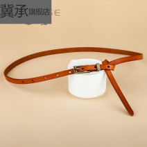 Belt / belt / chain top layer leather Bronze black bronze red bronze Brown Bronze coffee gold buckle white gold buckle red gold buckle coffee gold buckle Brown Gold Buckle Black female belt leisure time Single loop Youth, middle age and old age Pin buckle Geometric pattern soft surface 1cm alloy no