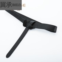 Belt / belt / chain top layer leather female belt grace Single loop Youth, middle age and old age Leather Wrap soft surface 2cm Ji Cheng Spring 2020