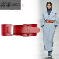 Belt / belt / chain top layer leather Brown red black female belt grace Single loop Youth, middle age and old age Smooth button Geometric pattern Glossy surface 6cm alloy Bare body inlay hollow rivet Sequin thick line decoration sculpture frosting tightness Ji Cheng ZS846 100cm Spring 2020 no