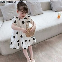 Dress female Xiaoqucai Other 100% summer lady Short sleeve other Princess Dress 162123290837785 They were 2 years old, 3 years old, 4 years old, 5 years old, 6 years old and 7 years old Graph color