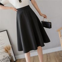 skirt Summer 2021 S M L XL Black apricot Mid length dress Versatile High waist A-line skirt Solid color Type A 30-34 years old 9615 in stock More than 95% Zetifen other Other 100% Pure e-commerce (online only)