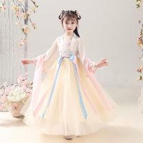 Hanfu nation 7, 8, 14, 3, 13, 11, 5, 6, 4, 10, 9, 12 Chiffon princess female Champagne, pink HF-002 Tagkita / she and others 110,120,130,140,150,160