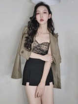 skirt Summer 2021 XL XS S M L Black and white Short skirt commute High waist Solid color Type A 18-24 years old 51% (inclusive) - 70% (inclusive) other Ru xianti cotton Cotton 63% polyester 37% Pure e-commerce (online only)