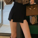 skirt Autumn 2020 XS S M L XL Black and white Short skirt Versatile High waist skirt Solid color 18-24 years old More than 95% brocade Ru xianti polyester fiber Polyester 100% Pure e-commerce (online only)