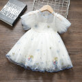 Dress white female Bean Jennie 80cm 90cm 100cm 110cm Other 100% summer princess Short sleeve Solid color cotton A-line skirt Q129 angel girl embroidered mesh skirt 65 other Spring 2021 12 months 6 months 9 months 18 months 2 years 3 years 4 years 5 years old