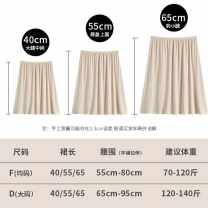 skirt Spring 2020 F average, d large White 40cm, black 40cm, skin color 40cm, pink 40cm, white 55cm, black 55cm, skin color 55cm, pink 55cm, skin color 65cm, white 65cm, black 65cm, pink 65cm Middle-skirt Versatile Natural waist A-line skirt Solid color Type A 25-29 years old MSYXJ0090 other Viscose