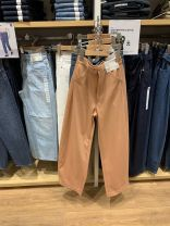 Casual pants Black, olive, pink orange, light beige S,M,L Spring 2020 trousers Straight pants Natural waist commute routine