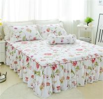 Bed skirt One pair of pillow case, 120x200cm bed skirt, 150x200cm bed skirt, 180x200cm bed skirt, 200x220cm bed skirt, 4-piece 1.2m bed skirt, 4-piece 1.5m bed skirt, 4-piece 1.8m bed skirt and 4-piece 2m bed skirt cotton Other / other Plants and flowers Qualified products