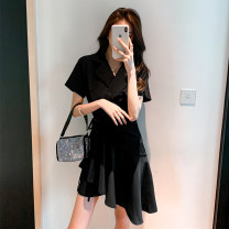 Dress Summer 2021 Black and white S M L XL Mid length dress 25-29 years old Poetry and beauty B04040003 More than 95% other Other 100%
