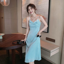 necktie Light blue s light blue m light blue l Light Blue XL Solid color other Mengka sheep Summer 2021