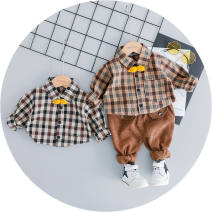 shirt 73 about 4-8 months 85 90 100 Summer 2020 other 96% and above Long sleeves Original design Regular stand collar stripe 30-34 years old Jin Wuqing CzCvvB PU