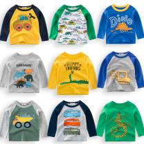 T-shirt Youth fashion Plush and thicken 90 100 110 120 130 140 Astragalus orientalis Long sleeves High collar Super slim daily sDVUhX Triacetate fiber (triacetate fiber) 100% Summer 2020