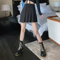 skirt Autumn 2020 S,M,L black Short skirt commute High waist A-line skirt Solid color Type A 18-24 years old BSQ039 91% (inclusive) - 95% (inclusive) Wool Other / other polyester fiber zipper Korean version 201g / m ^ 2 (including) - 250G / m ^ 2 (including)