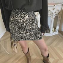 skirt Winter 2020 S,M,L,XL Zebra pattern Short skirt commute High waist A-line skirt Zebra pattern Type A 18-24 years old 91% (inclusive) - 95% (inclusive) other Other / other polyester fiber zipper Korean version 201g / m ^ 2 (including) - 250G / m ^ 2 (including)