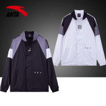 Sports jacket / jacket Anta male 165/S 170/M 175/L 180/XL 185/2XL 190/3XL 95929611jmt_ rRg8H Pure white base black rich blue four hundred and ninety-nine Autumn of 2019 stand collar zipper Brand logo design letter Sports & Leisure Warm and windproof Sports life yes