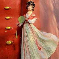 Hanfu 51% (inclusive) - 70% (inclusive) Spring 2021 [Ruyi] red tangbeizi + T-shirt + lower skirt (three pieces for silk) [Ruyi] purple tangbeizi + T-shirt + lower skirt ((three pieces for silk)) [Ruyi] blue tangbeizi + T-shirt + lower skirt (three pieces for silk) S M L polyester fiber