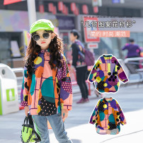 shirt Decor Other / other female 110cm,120cm,130cm,140cm,150cm,160cm,170cm spring and autumn Long sleeves Korean version Cartoon animation cotton Lapel and pointed collar Cotton 95% polyester 5% Floral Shirt Class B