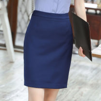 skirt Spring 2020 S,M,L,XL,2XL,3XL,4XL,5XL Black, blue Short skirt Versatile Natural waist A-line skirt Solid color Type A 25-29 years old skirt 81% (inclusive) - 90% (inclusive) zipper